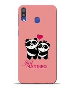 Just Married Samsung M20 Mobile Cover