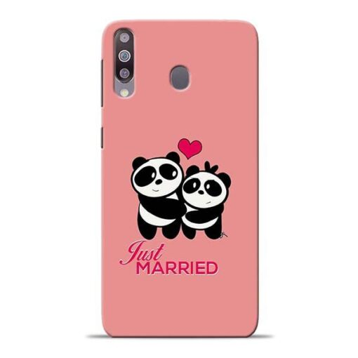Just Married Samsung M30 Mobile Cover