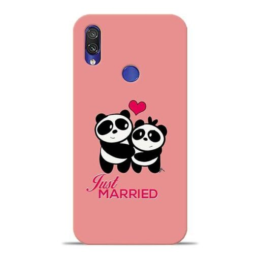 Just Married Xiaomi Redmi Note 7 Pro Mobile Cover