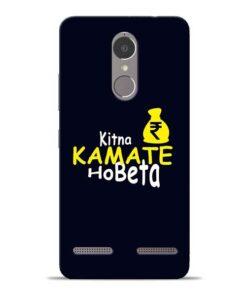 Kitna Kamate Ho Lenovo K6 Power Mobile Cover