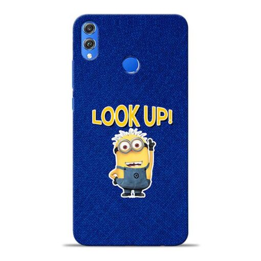 Look Up Minion Honor 8X Mobile Cover