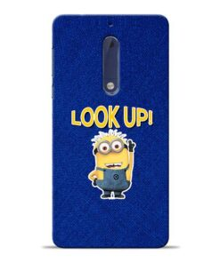 Look Up Minion Nokia 5 Mobile Cover