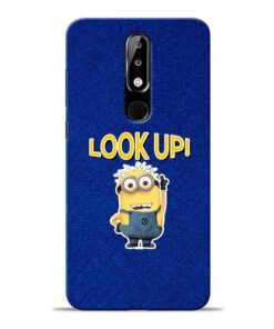 Look Up Minion Nokia 5.1 Plus Mobile Cover