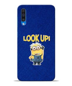 Look Up Minion Samsung A50 Mobile Cover