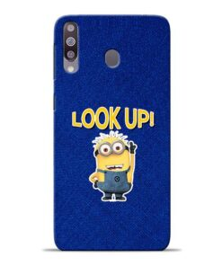 Look Up Minion Samsung M30 Mobile Cover