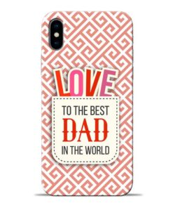 Love Dad Apple iPhone X Mobile Cover