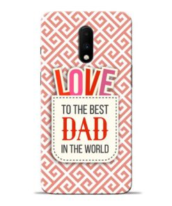 Love Dad Oneplus 7 Mobile Cover