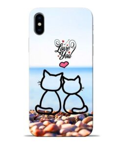 Love You Apple iPhone X Mobile Cover