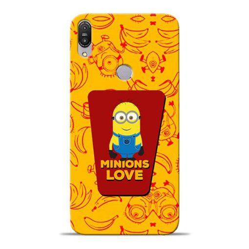 Minions Love Asus Zenfone Max Pro M1 Mobile Cover