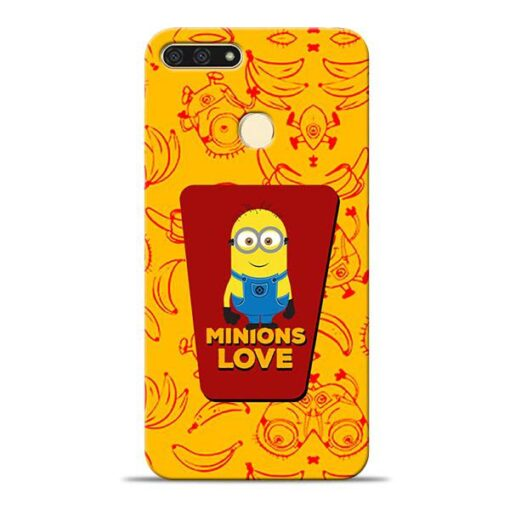 Minions Love Honor 7A Mobile Cover