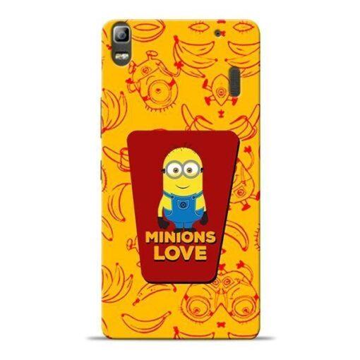 Minions Love Lenovo K3 Note Mobile Cover