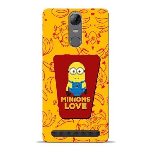 Minions Love Lenovo K5 Note Mobile Cover