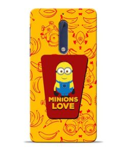 Minions Love Nokia 5 Mobile Cover