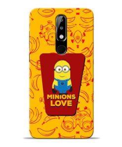 Minions Love Nokia 5.1 Plus Mobile Cover