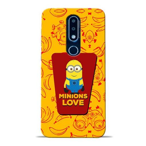 Minions Love Nokia 6.1 Plus Mobile Cover