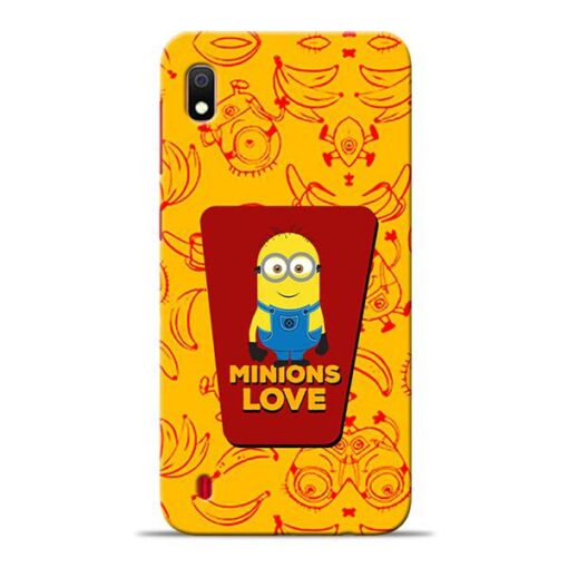 Minions Love Samsung A10 Mobile Cover
