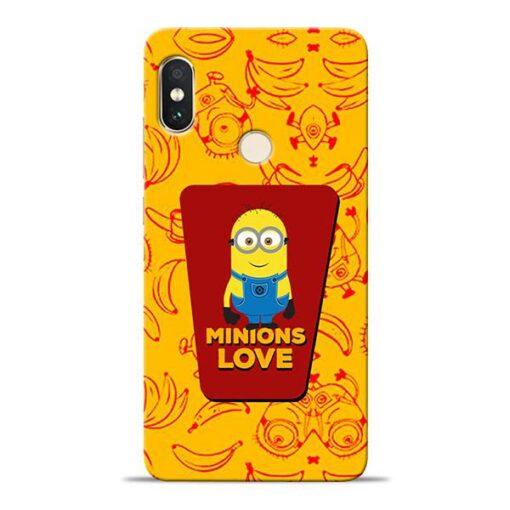 Minions Love Xiaomi Redmi Note 5 Pro Mobile Cover