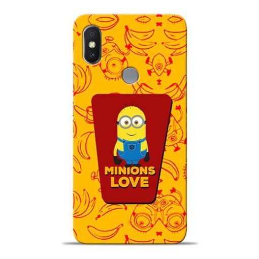 Minions Love Xiaomi Redmi Y2 Mobile Cover