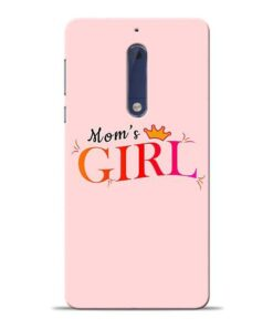 Mom Girl Nokia 5 Mobile Cover