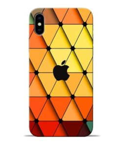 Neon Apple Apple iPhone X Mobile Cover
