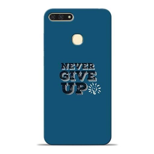 Never Give Up Honor 7A Mobile Cover