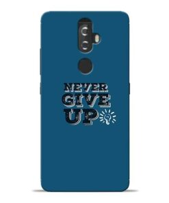 Never Give Up Lenovo K8 Plus Mobile Cover