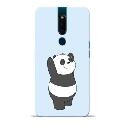 Panda Hands Up Oppo F11 Pro Mobile Cover