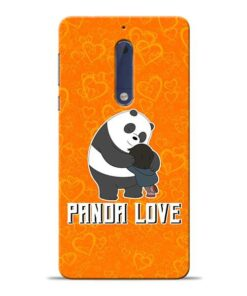 Panda Love Nokia 5 Mobile Cover