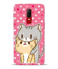 Pretty Cat Oneplus 6 Mobile Cover