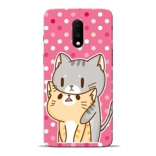 Pretty Cat Oneplus 7 Mobile Cover