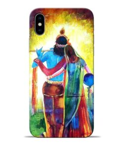 Radha Krishna Apple iPhone X Mobile Cover