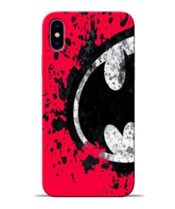 Red Batman Apple iPhone X Mobile Cover