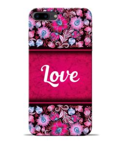 Red Love Apple iPhone 8 Plus Mobile Cover