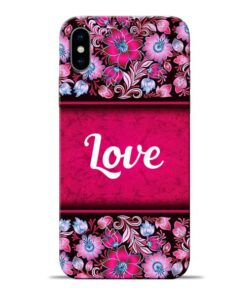 Red Love Apple iPhone X Mobile Cover