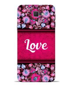 Red Love Samsung J7 Prime Mobile Cover