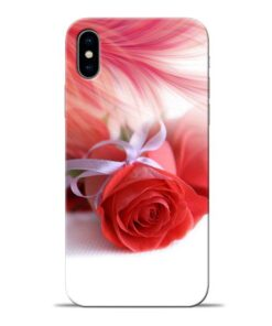 Red Rose Apple iPhone X Mobile Cover