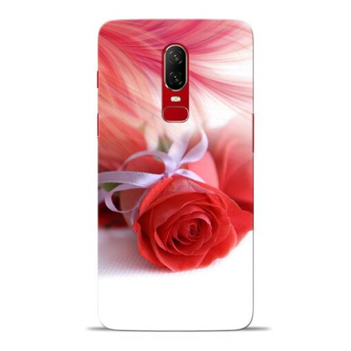 Red Rose Oneplus 6 Mobile Cover