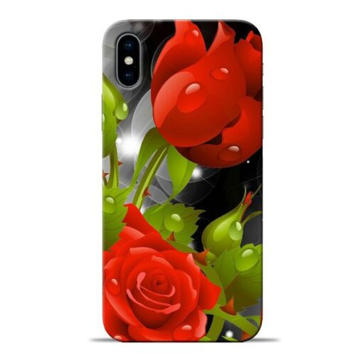 Rose Flower Apple iPhone X Mobile Cover