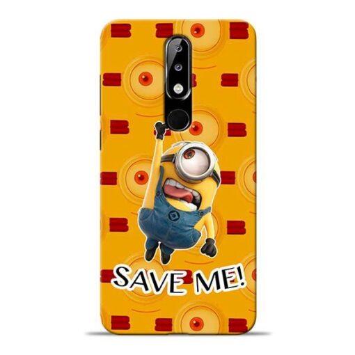 Save Minion Nokia 5.1 Plus Mobile Cover