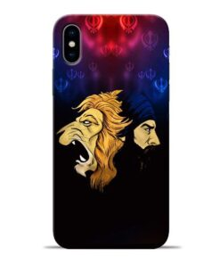 Singh Lion Apple iPhone X Mobile Cover