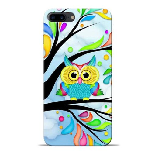Spring Owl Apple iPhone 8 Plus Mobile Cover
