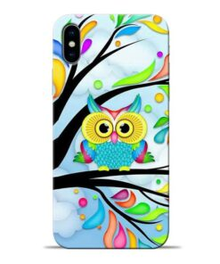 Spring Owl Apple iPhone X Mobile Cover
