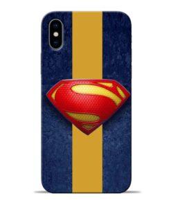 SuperMan Design Apple iPhone X Mobile Cover