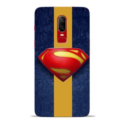 SuperMan Design Oneplus 6 Mobile Cover