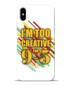 Too Creative Apple iPhone X Mobile Cover