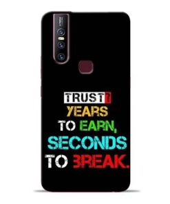 Trust Years To Earn Vivo V15 Mobile Cover