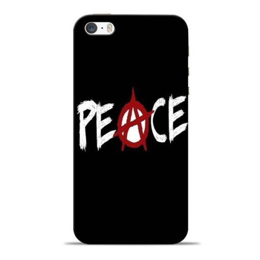 White Peace Apple iPhone 5s Mobile Cover