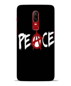 White Peace Oneplus 6 Mobile Cover