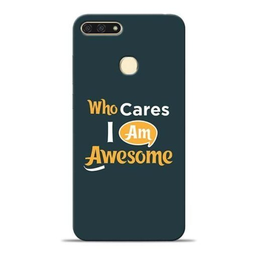 Who Cares Honor 7A Mobile Cover
