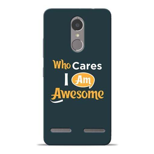 Who Cares Lenovo K6 Power Mobile Cover
